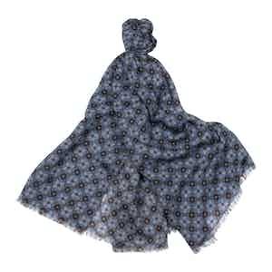 Azure Wool Scarf