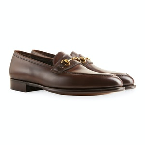Dark Brown Leather Colony Bit Loafer