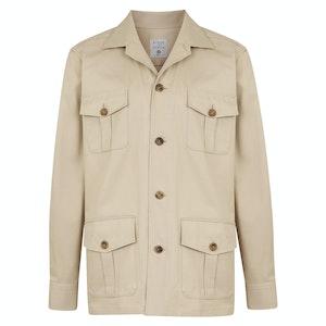 Fawn Water Repellent Organic Cotton Safari Jacket