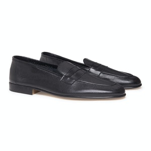 Black Levant Calf Leather Padstow Light Loafer