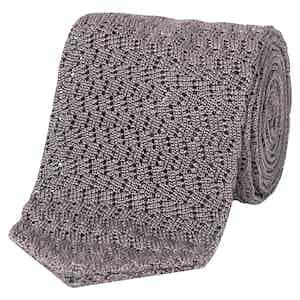 Slate Silk Pointed Knit Tie