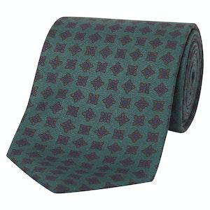 Green Madder Silk Motif Tie