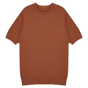 Rust Orange Knitted Supima Cotton T-Shirt