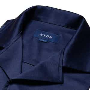Blue Cotton Scottish Thread Resort Shirt