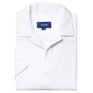 White Popover Terry Cloth Shirt