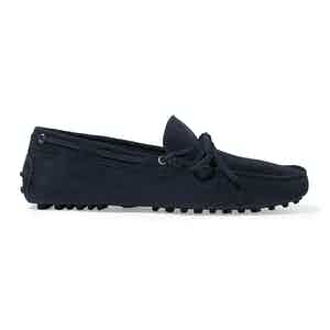 Navy Suede James Driving Shoes