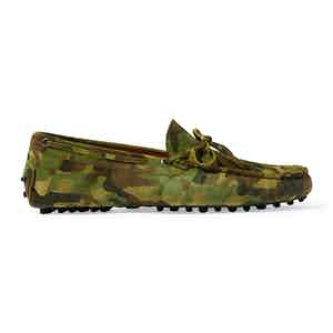 Camouflage Suede James Driving Shoes
