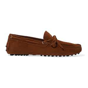Cigar Suede James Driving Shoes