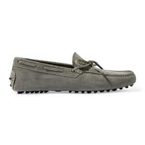 Grey Suede James Driving Shoes