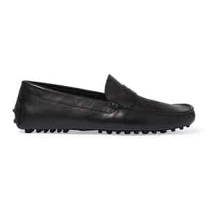 Black Calf Leather Michael Driving Loafers