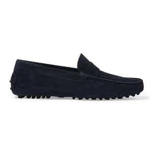 Blue Suede Michael Driving Loafers