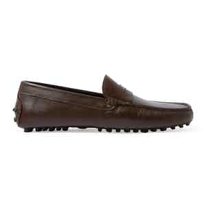 Brown Calf Leather Michael Driving Loafers