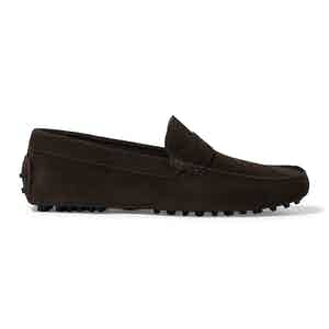Brown Suede Michael Driving Loafers