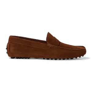 Cigar Suede Michael Driving Loafers