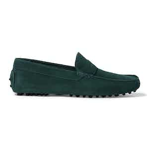 Green Suede Michael Driving Loafers