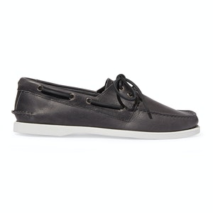 Anthracite Calf Leather Orlando Boat Shoes
