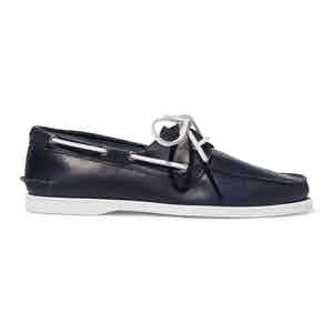 Blue Calf Leather Orlando Boat Shoes