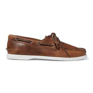 Cigar Calf Leather Orlando Boat Shoes