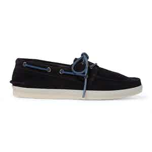 Blue Suede Prince Boat Shoes