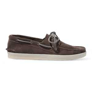 Grey Suede Prince Boat Shoes