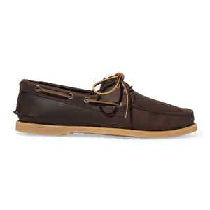 Brown Nubuck Jude Boat Shoes