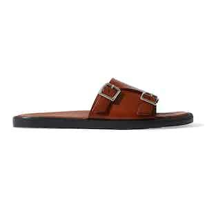 Cognac Calf Leather Costantino Sandals