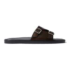 Brown Calf Leather Costantino Sandals