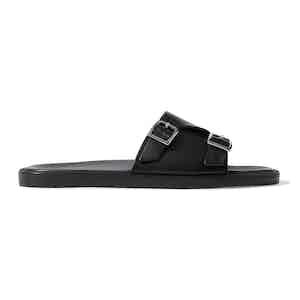 Black Calf Leather Costantino Sandals