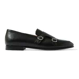 Black Calf Leather Ernesto Loafers