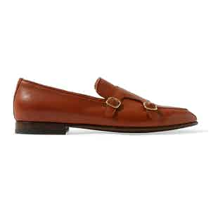 Brown Calf Leather Ernesto Loafers