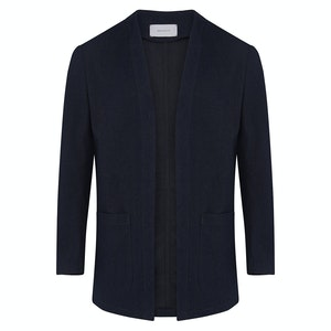 Denim Blue Cotton Cardigown Overshirt