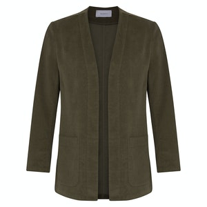Olive Green Cord Cardigown Overshirt