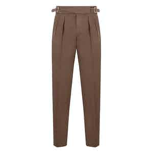 Brown Cotton Manny Trousers