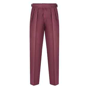 Wine Cotton Manny Trousers