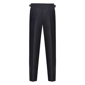 Tasmanian Midnight Navy Wool Manny Trousers