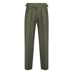 Sage Green Linen Manny Trousers