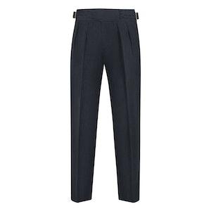 Blue Linen Manny Trousers