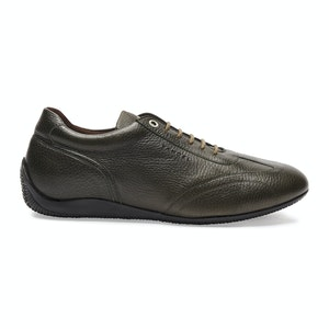 Green Leather Iconic Low Driving Shoe