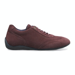 Burgundy Suede Iconic Low Driving Shoe
