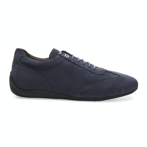 Prussian Blue Suede Iconic Low Driving Shoe