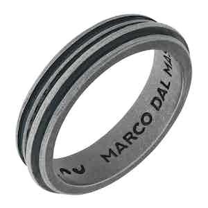 Green Silver Acies Single Oxidized Ring