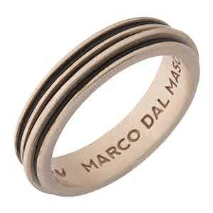 Brown Silver Acies Single 18K Rose Gold Platted Ring