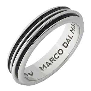 Black Silver Acies Single Ring
