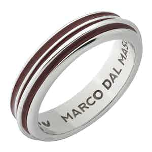 Red Silver Acies Polished Single Ring