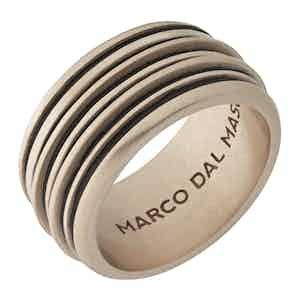 Brown Silver Acies 18K Rose Gold Matte Ring