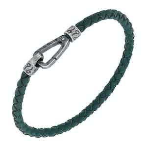Green Silver Lash Single Cord Bracelet