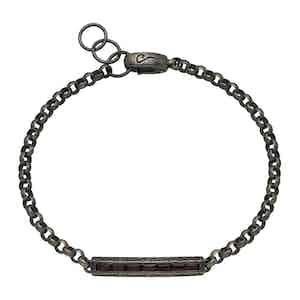 Red Silver Ara Rectangular Bracelet
