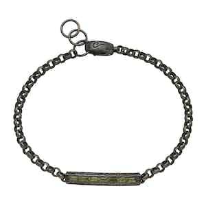 Green Silver Ara Rectangular Bracelet