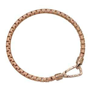 Pink Silver Carved Tubolar Ulysses Polished Bracelet