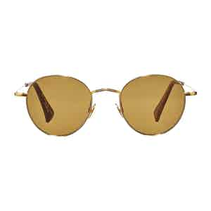 Gold Vicuna Tobacco Lens Sunglasses